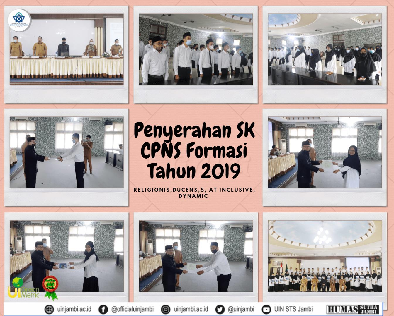 Rektor Serahkan 42 SK CPNS UIN Sutha Formasi Tahun 2019