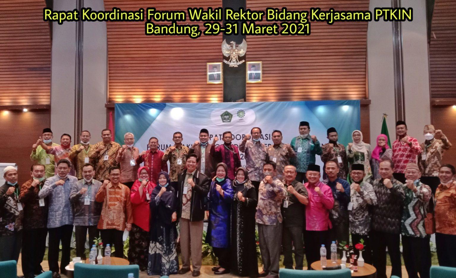 WR III Ikuti Rakor Forum Wakil Rektor Kerjasama PTKIN